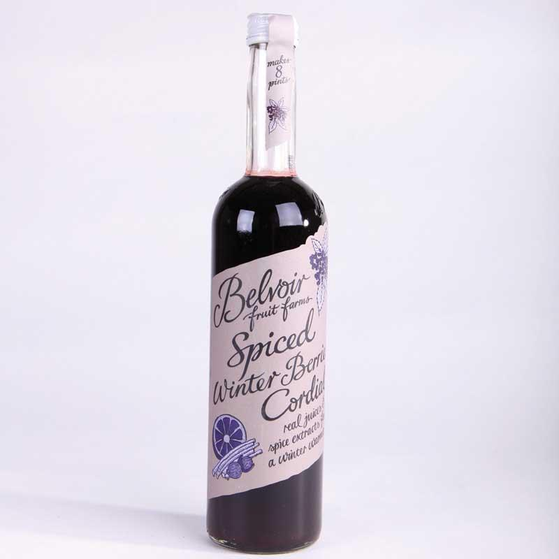 Belvoir Spiced Winter Berries Cordial 500ml non organic