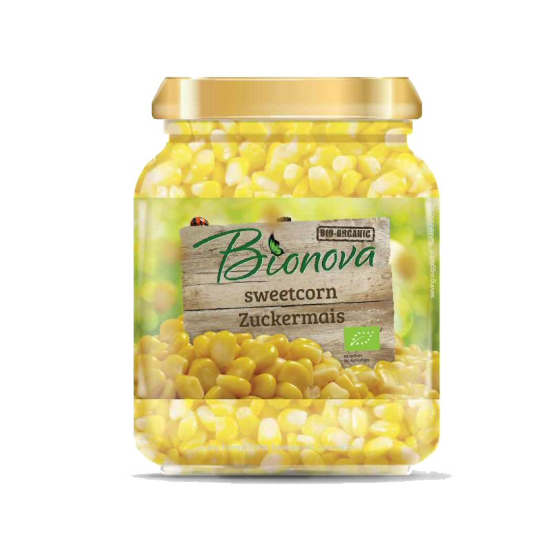 Bionova Sweetcorn In Jars 340g