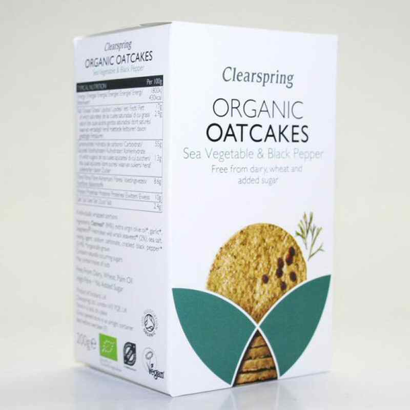 Clearspring Sea Veg & Black Pepper Oatcakes 200g
