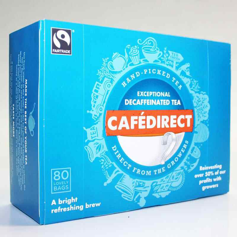 Cafedirect  Decafinated  80 Bags Non Organic Fair Trade