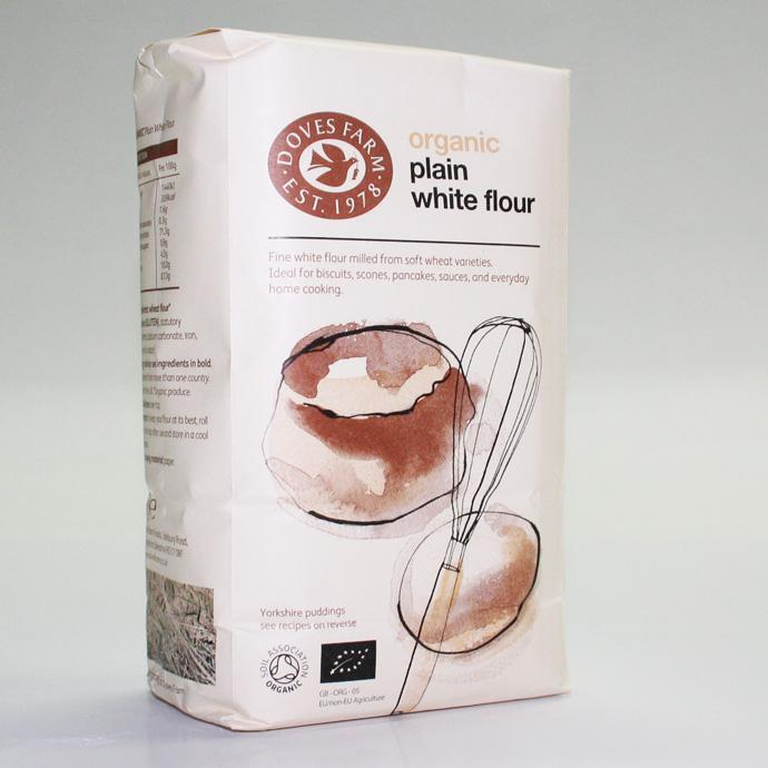 Doves Farm Plain White Flour 1kg