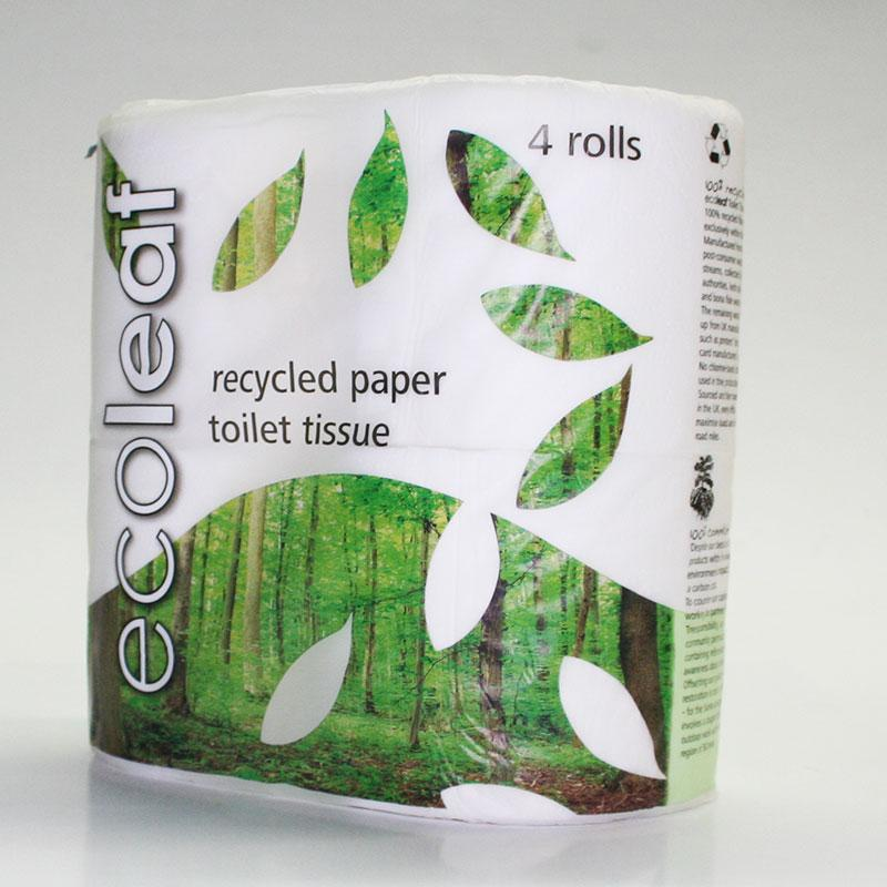 Ecoleaf Toilet Tissue - 4 Pack Recycled