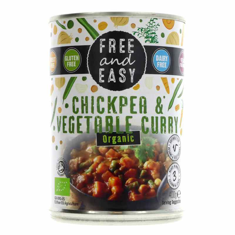 Free & Easy Chickpea & Veg Curry  400g