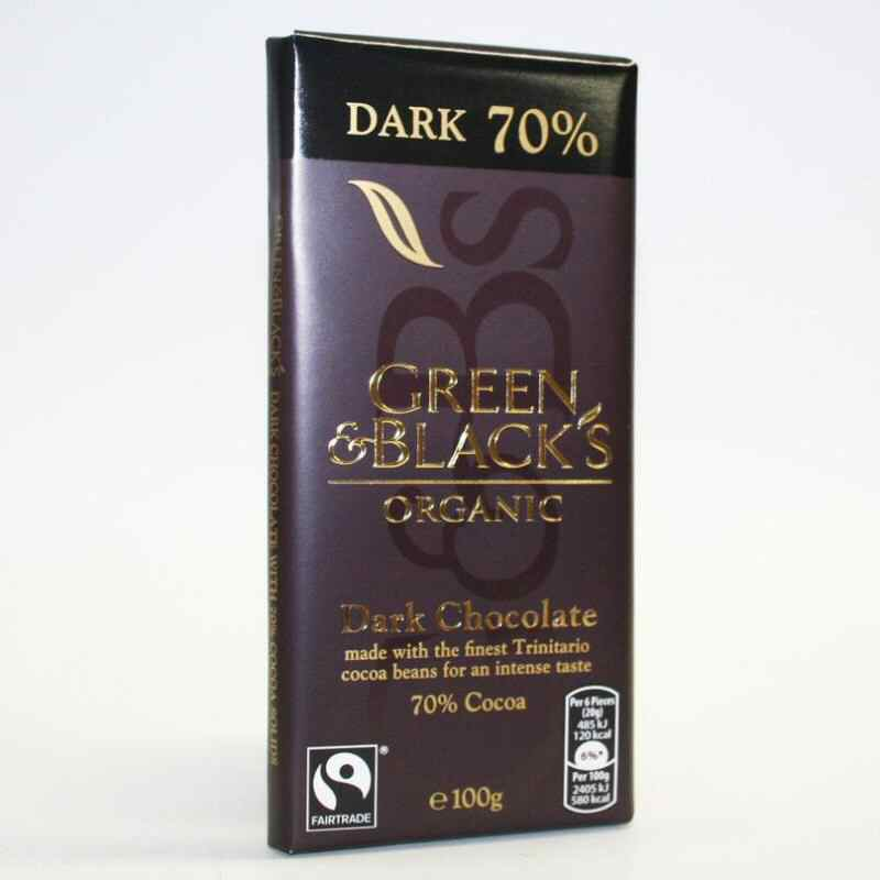 Green & Blacks Dark Chocolate 100g fairtrade none organic