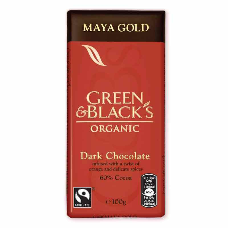 Green & Black's Maya Gold Chocolate 100g