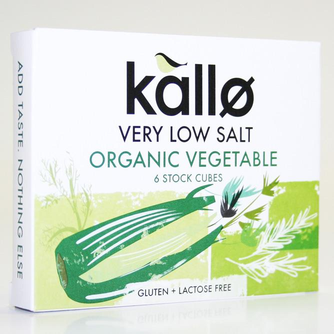Kallo Low Veg Salt Stock Cubes x6