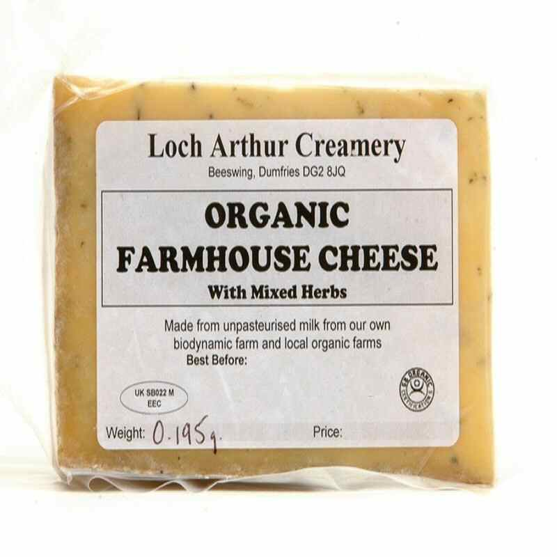 Loch Arthur Cheddar with Mixed Herbs - Please pre-order