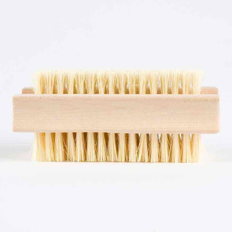 nail brush wooden mexican fibre