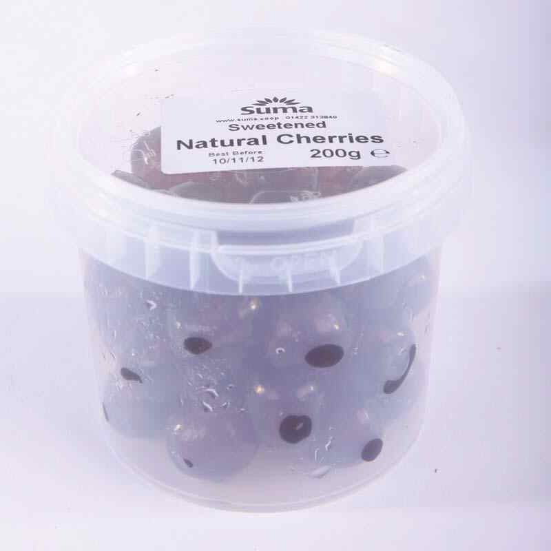 Natural Glace Cherries 200g Non Organic