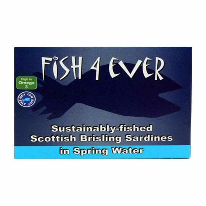 Fish 4 Ever Brisling Sardines 125g Sustainably sourced