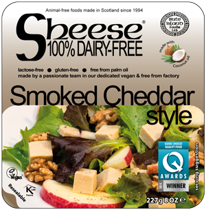 Bute Island smoked Cheddar Style melty 227g - Non Dairy/Non organic