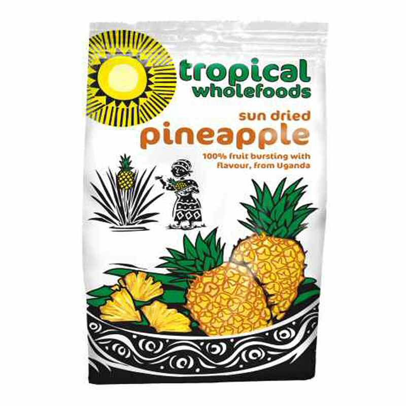 Tropical Wholefoods Sun Dried Pinapple 100g Fair Trade