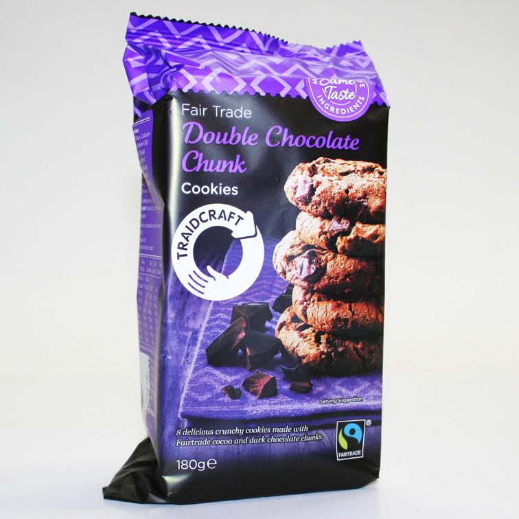 Traidcraft Double Chocolate Cookies 200g