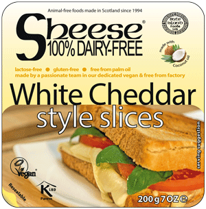 Bute Island white cheddar Style slices 200g - non organic