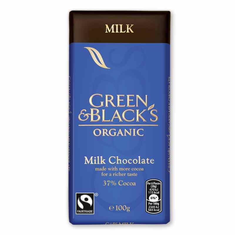 Green & Black's Milk Chocolate 100g