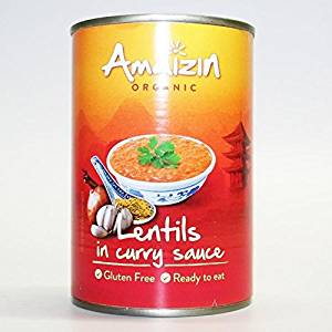 Amaizin lentils in curry sauce 420g