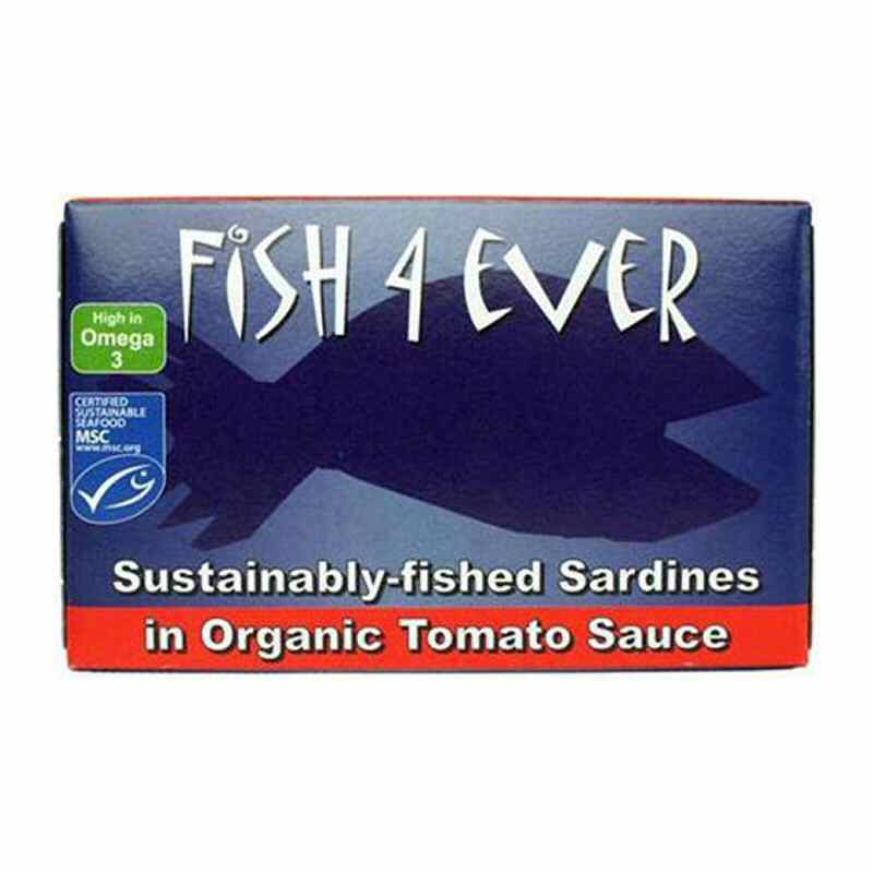 Fish 4 Ever Whole Sardines in Tomato Sauce 120g