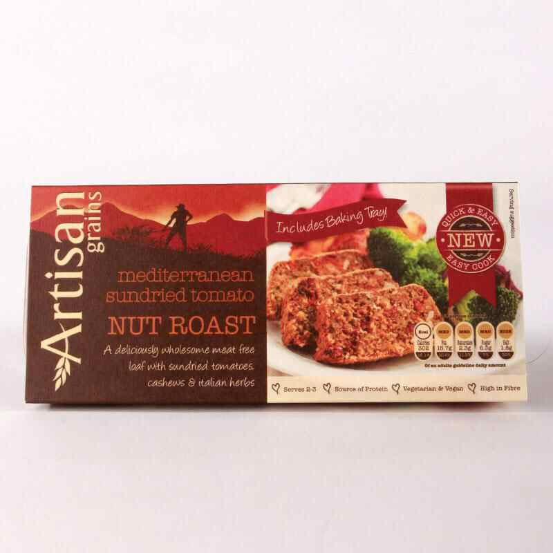 Artisan Grains Nut Roast - Sundried Tomato	200g  - Vegan
