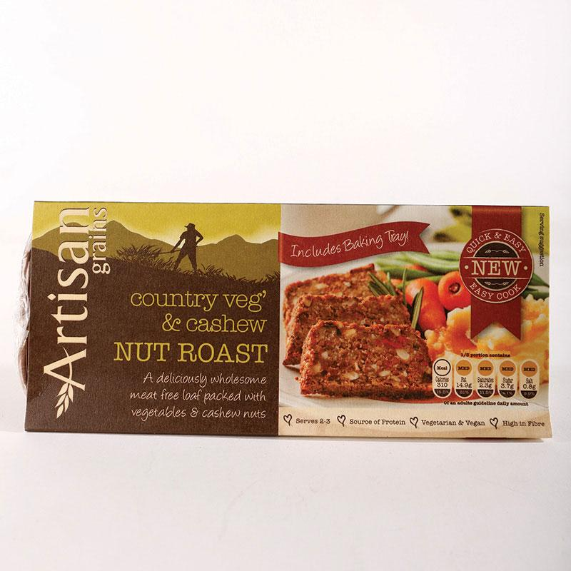 Artisan Grains Nut Roast - Country Veg/Cashew  200g	 Vegan