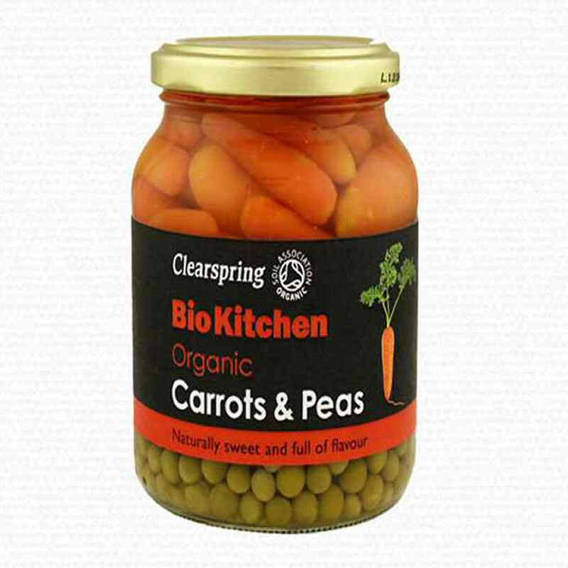 Clearspring Baby Carrots & Peas in jars 350g
