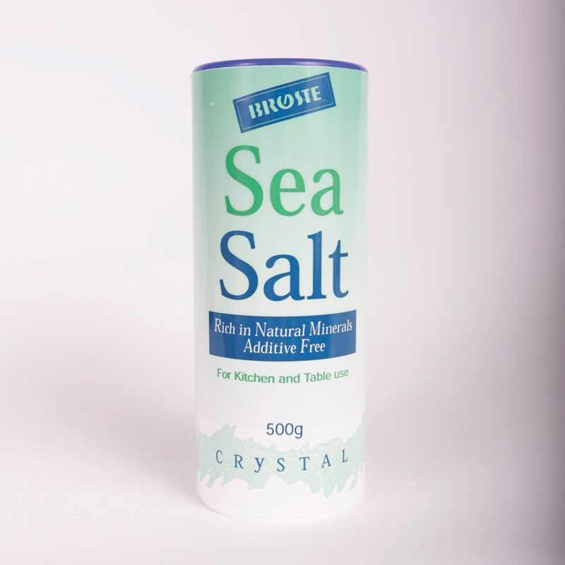 Broste Coarse Sea Salt 500g	non organic