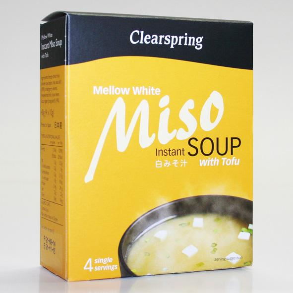 Clearspring Instant Mellow White Miso with tofu (4x10g)
