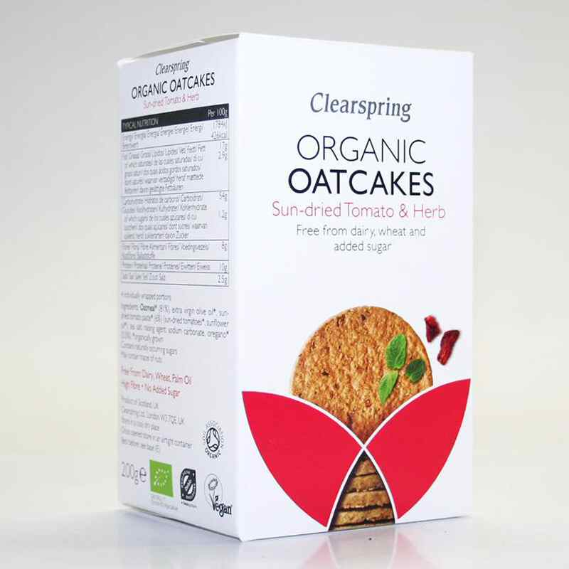 Clearspring Sundried Tomato/Herb Oatcakes 200g