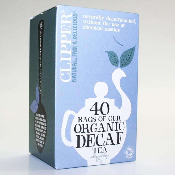 Clipper Decaffeinated Tea Bags 40  Fairtrade