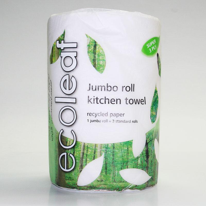 Ecoleaf Jumbo Kitchen Towel 3x standard Roll