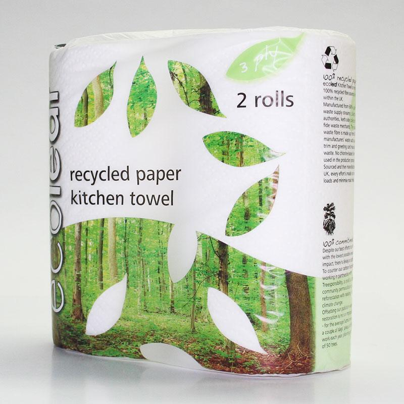 Ecoleaf Kitchen Towel 2 Roll Pack