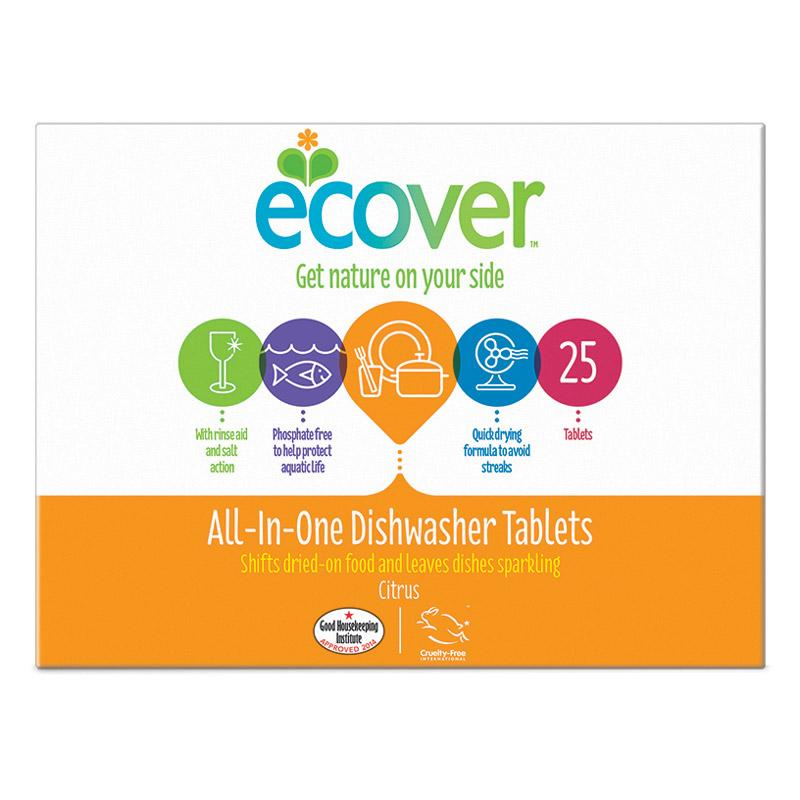 Ecover All in One Dishwash Tablets x 22