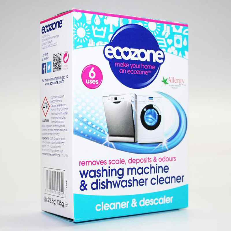 Ecozone W/Machine D/Machine Cleaner 6x30g  Vegan