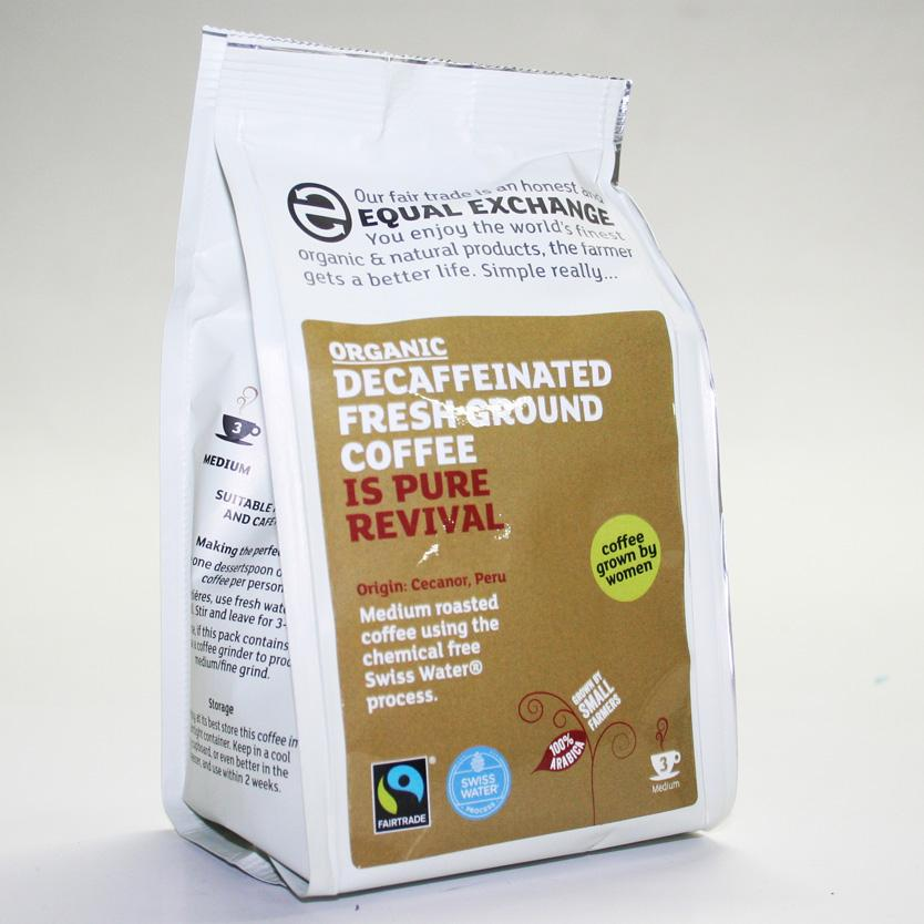 Equal Exchange Decaf. Medium Ground Coffee 227g Fair Trade