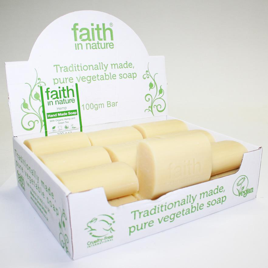 Faith in Nature Hemp & Lemongrass Soap 100g
