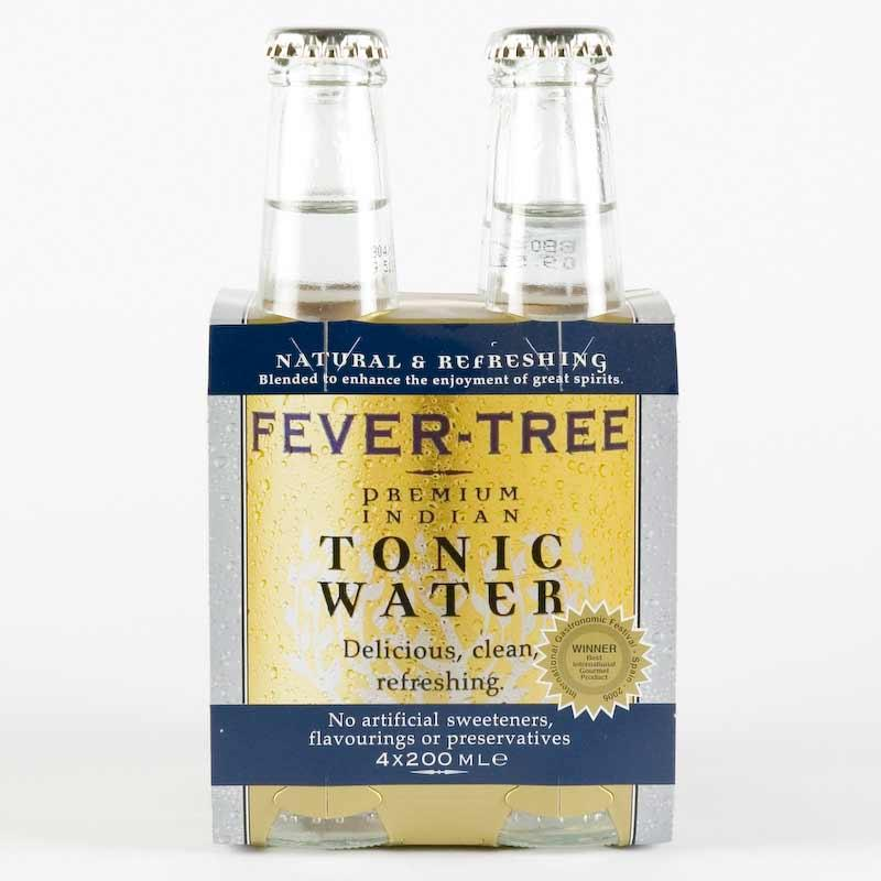 Fevertree Indian Tonic Water 200ml x 4 Non Organic