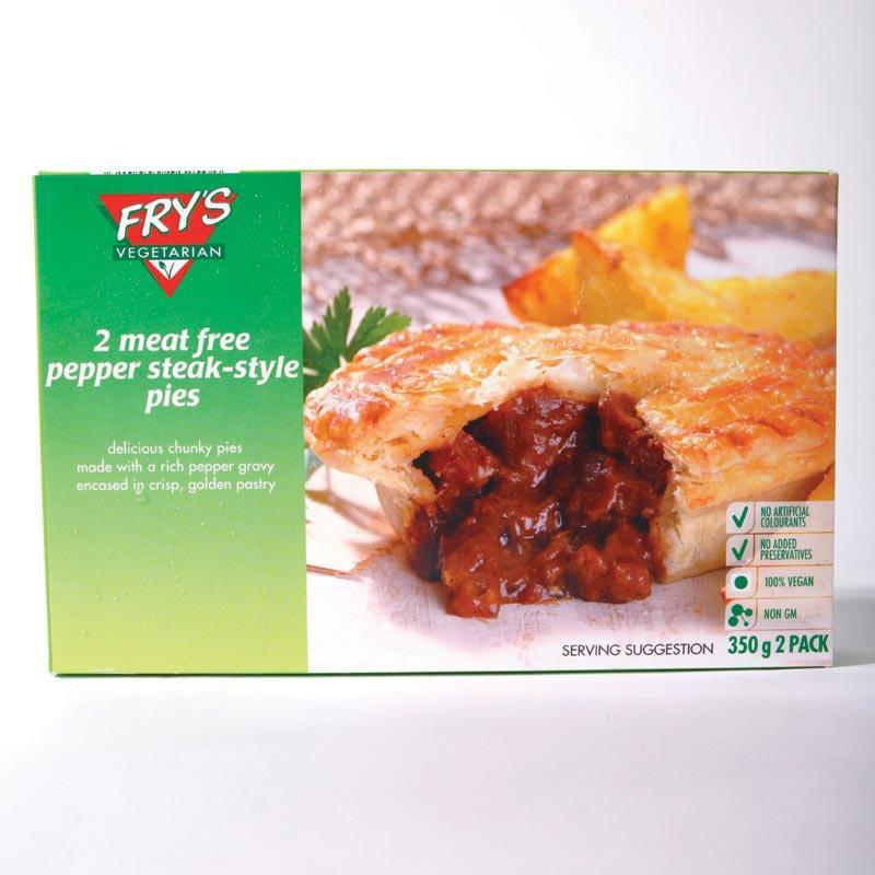Frys Pepper Steak Style Pie 350g	vegan