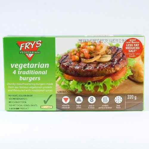 Frys Traditional Burgers  4 Pack  320g