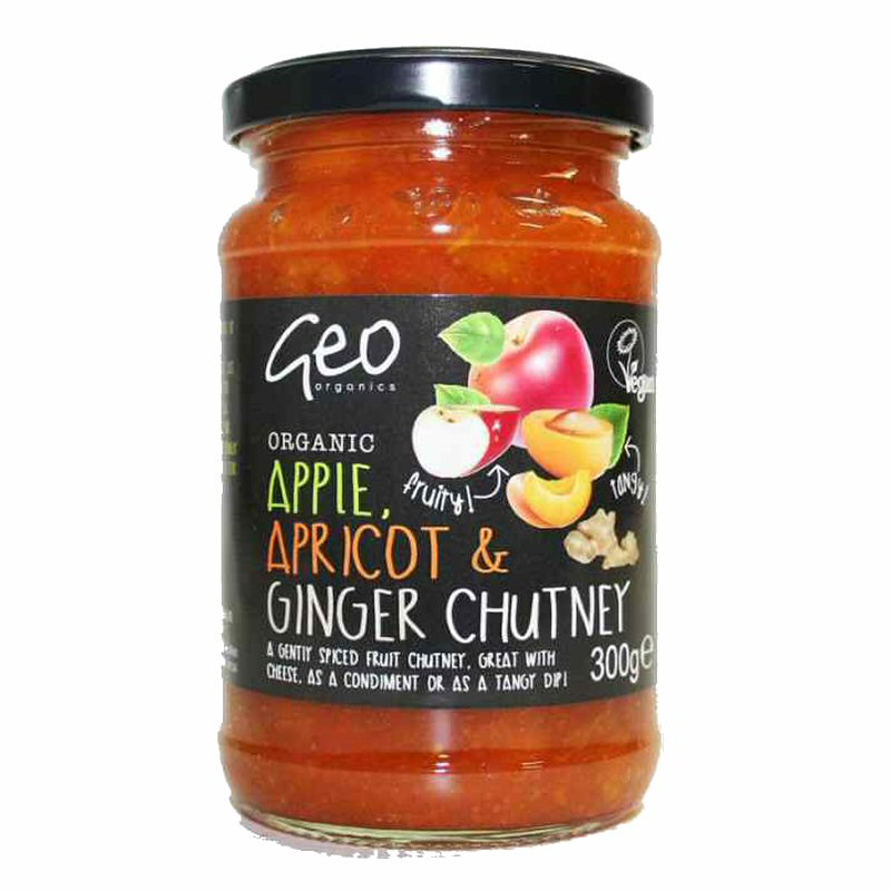 Geo Apple Aprictot Ginger Chutney 300g