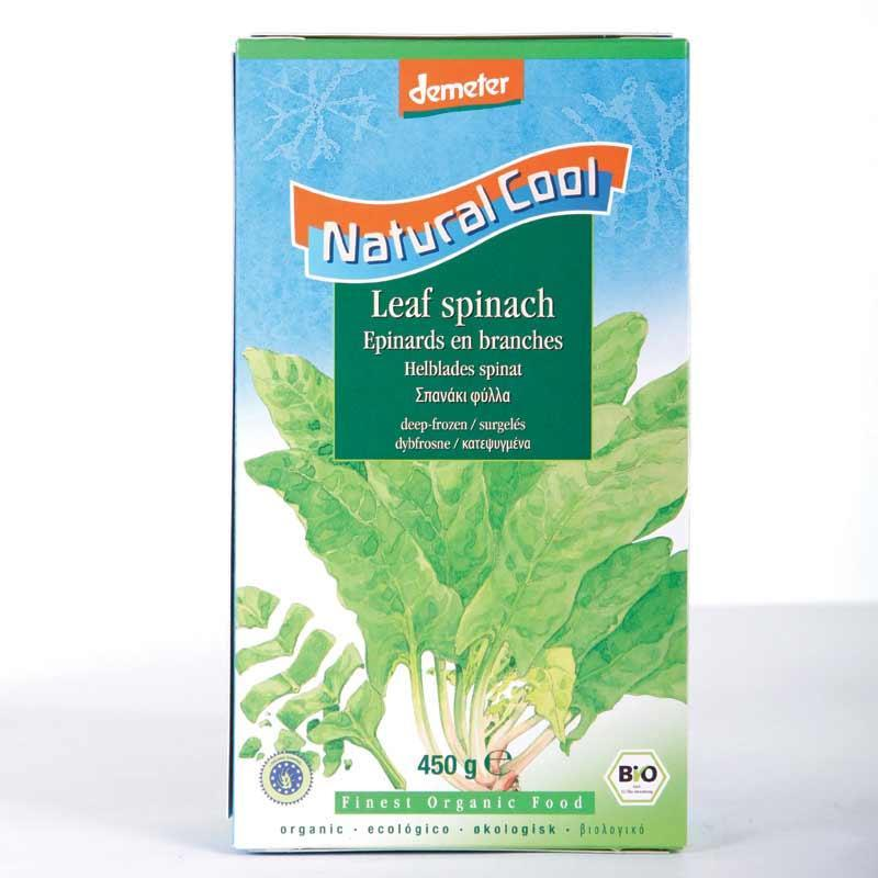 Natural Cool Frozen Spinach portions 450g