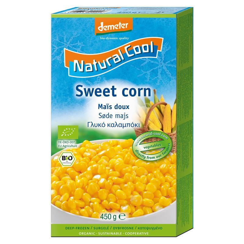 Natural Cool Frozen Sweetcorn 450g