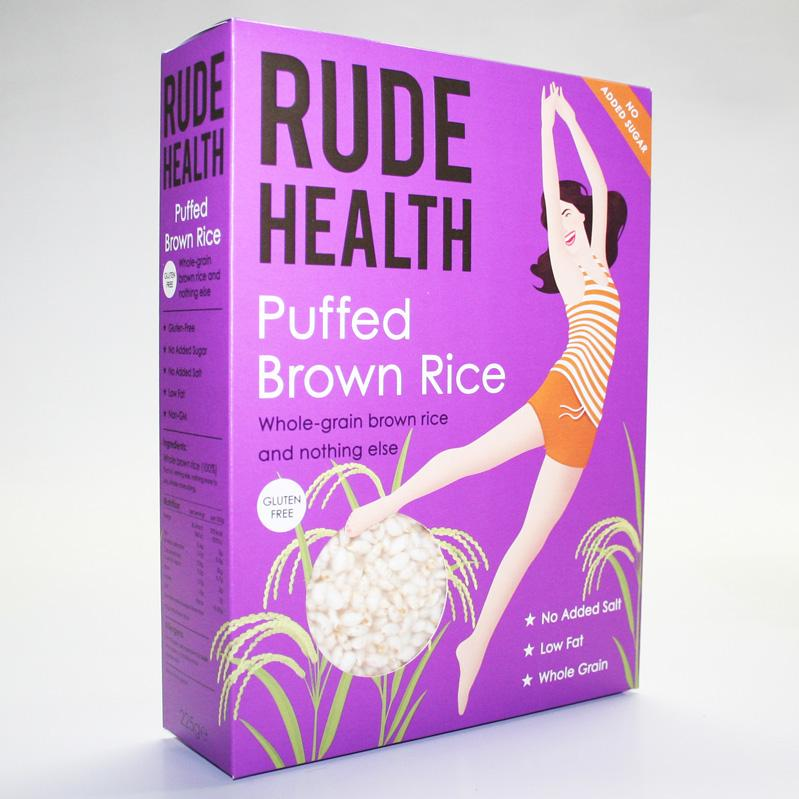 Rude health Puffed Brown Rice 225g