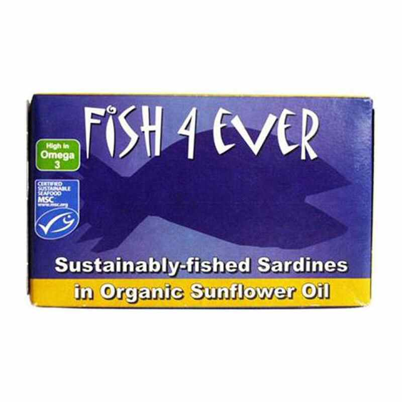 Fish 4 Ever Whole Sardines in olive oil & lemon 120g