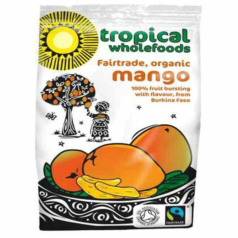 Tropical Wholefoods Sun Dried Mango 100g Fair Trade