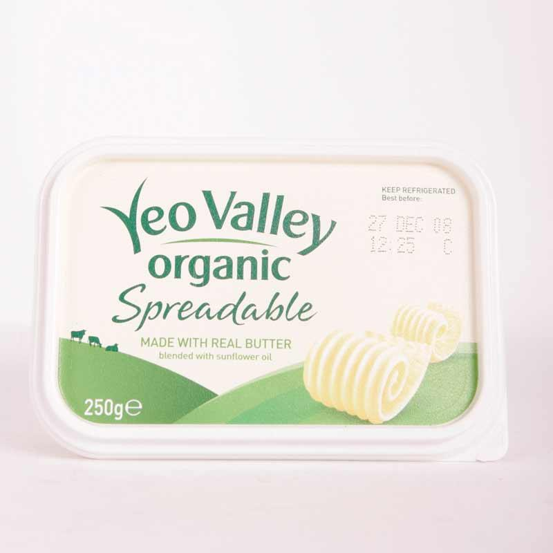 Yeo Valley Spreadable Butter 250g