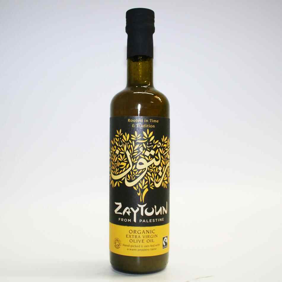 Zaytoun Palestinian Extra Virgin Olive Oil 500ml	  Fair Trade