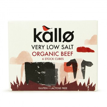 Kallo Low Salt Beef Stock Cubes x 6