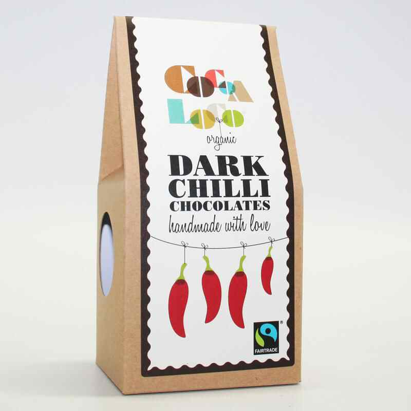 Cocoa Loco  Dark Chocolate Cinnamon Chillis - vegan