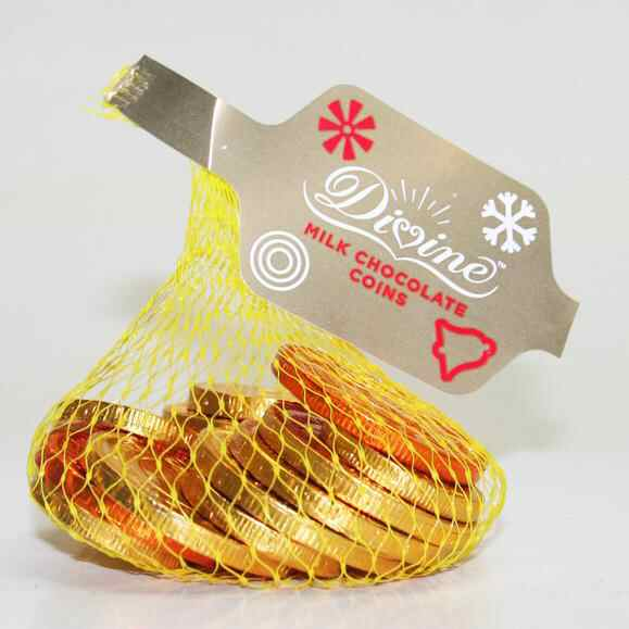Divine Milk Chocolate Coins 70g