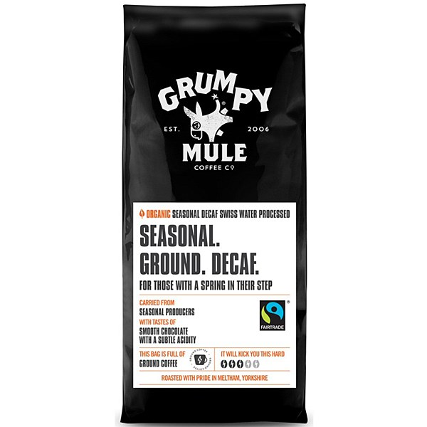Grumpy Mule Ground Decafe  coffee 227g