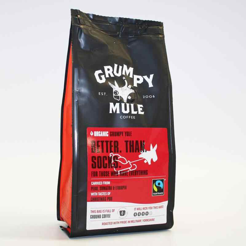 Grumpy Mule  seasonal Blend Ground Coffee 227g strength 4